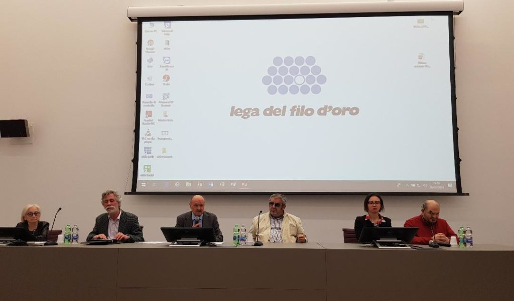 Da sinistra Patrizia Ceccarani, Giuliano Beltrami, Rossano Bartoli, Davide Cervellin, Francesco Mercurio con la sua assistente
