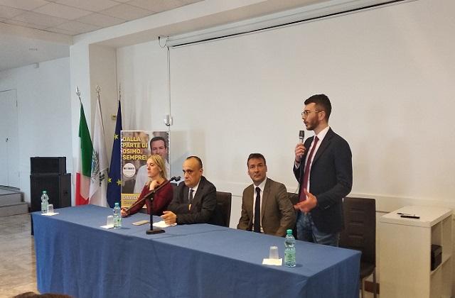 Da sinistra: Sara Andreoli, il ministro Alberto Bonisoli, David Monticelli e Paolo Giuliodori