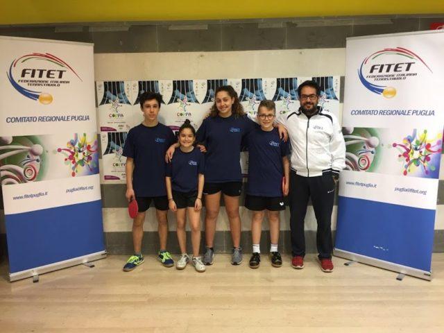 Tennistavolo, le giovani Marche recuperano posizioni alla Coppa delle Regioni di Molfetta