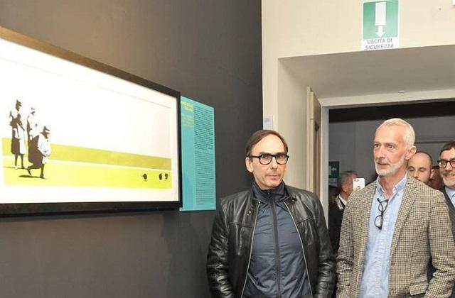 I due curatori, Gianluca Marziani e Stefano Antonelli