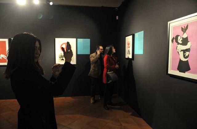 Banksy a Osimo, mille visitatori nel primo weekend di aprile