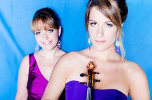 Da sinistra, la pianista Francesca Leonardi e la violinista Francesca Dego