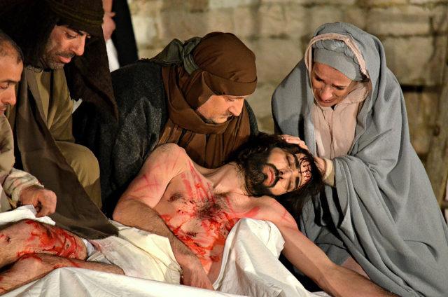 Una scena della Passione a Sassoferrato