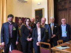 Patrizia Terzoni e la delegazione dell'Agti