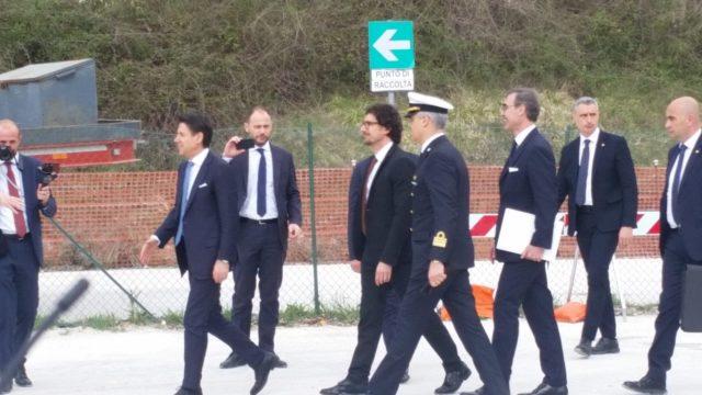L'arrivo del Premier Conte e del Ministro Toninelli