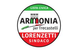 Il logo della lista civica Armonia per Trecastelli a sostegno del candidato sindaco Massimo Lorenzetti