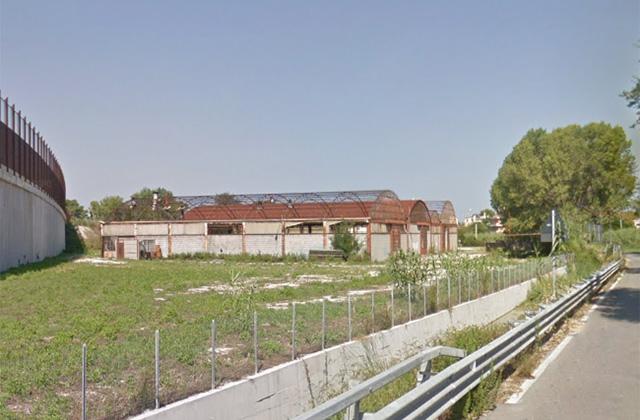 I capannoni dell'ex area Messersì, a Senigallia