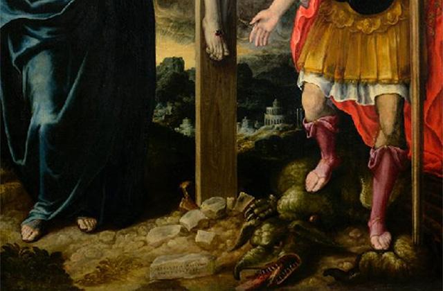 """La """"Crocefissione"""" di Ercole Ramazzani nella Pinacoteca diocesana di Senigallia (particolare)"""