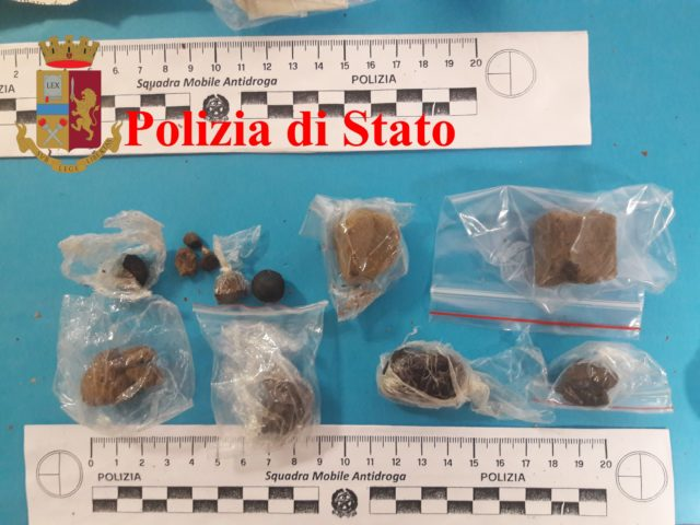 La droga sequestrata al Polacco