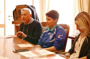 Da sinistra Bruno Monnati, Elisa Fabrizi e Giorgia Fabri