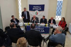 L'intervento del portavoce regionale Carlo Ciccioli