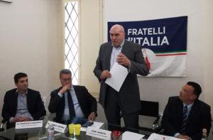 Il coordinatore nazionale di Fratelli d'Italia Guido Crosetto a Senigallia