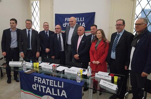 Crosetto all'incontro di Fratelli d'Italia a Senigallia