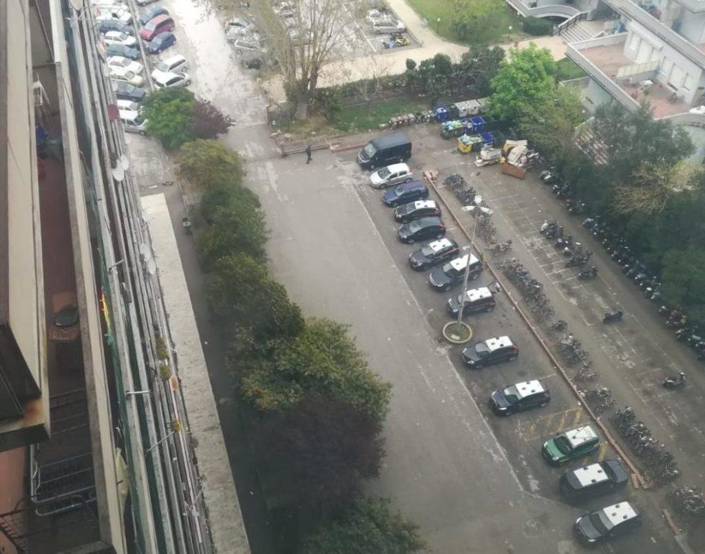 Il parcheggio dell'Hotel House