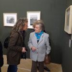 Lidia Barucca, vedova di Ferroni, in visita alla mostra di Senigallia