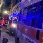 Ancona, incendio in via Magenta