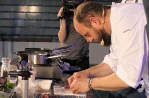 Lo show cooking con lo chef Errico Recanati del ristorante Andreina di Loreto