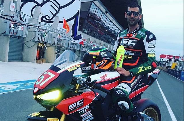 Simone Saltarelli, il pilota di Senigallia, in sella alla Honda è pronto per la celebre 24 ore di Le Mans