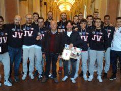 Volley Jesi premiato a Palazzo Pianetti per la promozione in serie C