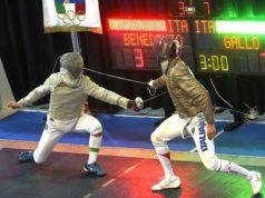 Un momento della finale maschile tra Gallo e Benedetto