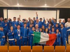 Il team Italia di marcia in Lituania (Camilla Gatti al centro)
