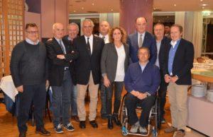 Foto di gruppo dalla cena conviviale con Alessandra Sensini