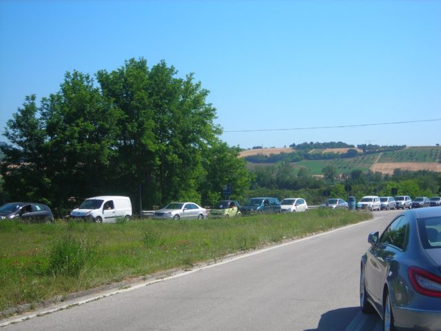 L'incrocio tra Castelfidardo e Numana