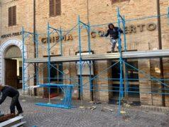 Lavori di ristrutturazione in corso all'ex cinema