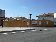 Il cantiere edile all'ex molino Tarsi, tra viale Leopardi e via Baroccio, a Senigallia