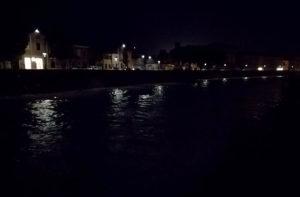 Il fiume Misa in centro storico, a Senigallia