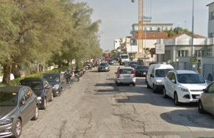 Il lungomare Mameli a Senigallia