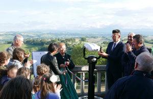 Inaugurato a Scapezzano di Senigallia il binocolo per osservare il panorama