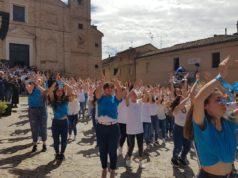 Il flash mob degli studenti