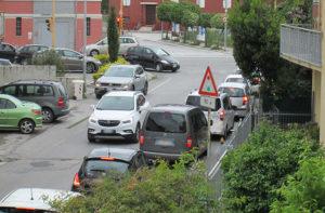 Il traffico in via Cilea