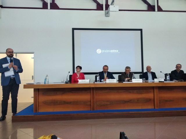 La conferenza stampa nella sede di Astea