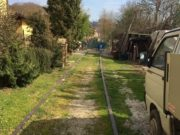 Un tratto dismesso della ferrovia Fano Urbino