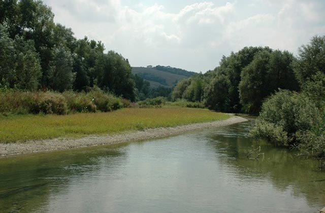 Un tratto del fiume Nevola