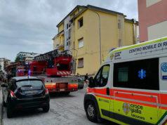 Pompieri e ambulanza sul posto