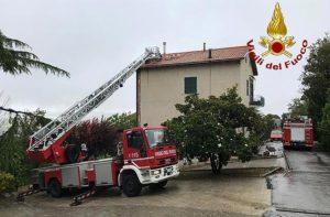 Numerosi gli interventi effettuati dai Vigili del fuoco in appena 24 ore di maltempo