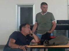 Pierpaolo Pullini (in piedi) responsabile del territorio di Fabriano della Fiom