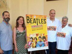 Presentata l'iniziativa sulla pace e la rassegna BeatleSenigallia. Da sinistra Pierfederici, Ricci, Molinelli, Muzi
