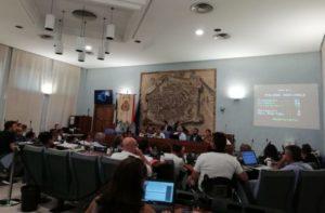 Una seduta del Consiglio Comunale di Pesaro