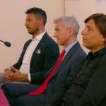 Da sinistra Giacomo Bramucci, Massimo Torti e Anton Giulio Grande