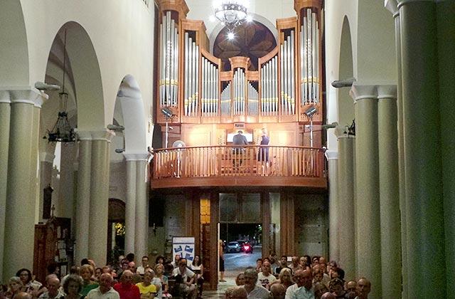 Uno dei concerti del Festival Organistico Internazionale alla chiesa del Portone di Senigallia