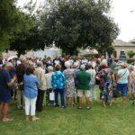 Il pubblico all'inaugurazione del monumento al parco della Pace