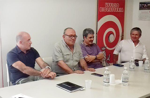 La nuova Jesina. Da sinistra Omar Manuelli, Gianfilippo Mosconi, Gianni Giampaoletti, Maurizio Gagliardini