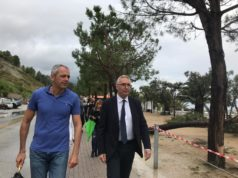 Il presidente regionale Luca Ceriscioli, accompagnato dal sindaco di Numana Gianluigi Tombolini, visitano gli stabilimenti danneggiati