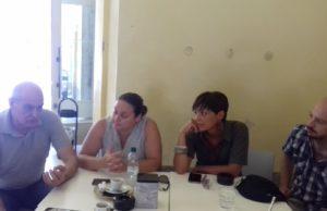 Da sinistra Osvaldo Pirani, Claudia Lancioni, Agnese Santarelli, Francesco Coltorti