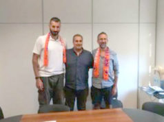 Il club manager Michele Maggioli, Altero Lardinelli e coach Alessandro Valli