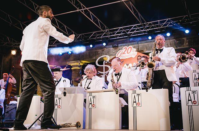 La Abbey Town Jazz Orchestra al Summer Jamboree di Senigallia. Foto di Beatrice Perticaroli